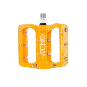 Azonic, Pedale, MTB, Pucker Up Pedal, orange, robustes DH- und AM Pedal, CN