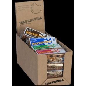 Hafervoll Müsliriegel Flapjacks 18er MIX-Box 6 Sorten je 3-Riegel Mandel-R